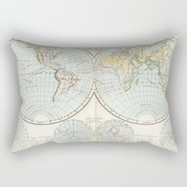 Old Map of The Globe Rectangular Pillow