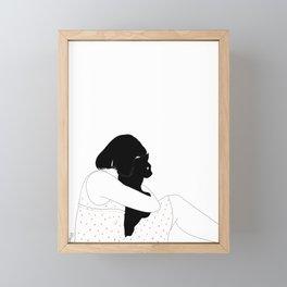 morning cat Framed Mini Art Print