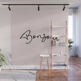 Bonjour & Hello Wall Mural