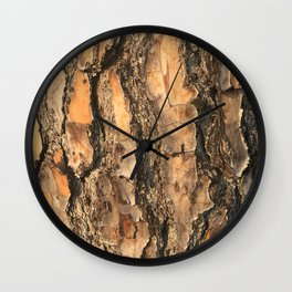 Pine Bark Wall Clock