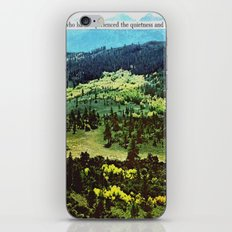 quietness and softness iPhone & iPod Skin