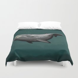PAINT ME LIKE YOUR FRENCH WHALES Duvet Cover