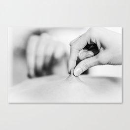 Pinching Canvas Print