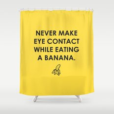 Eating a Banana Shower Curtain