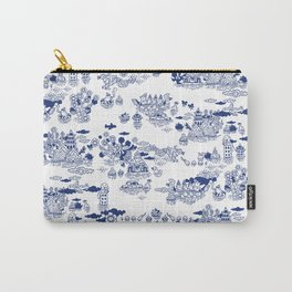 FLOOD IN ANTIQUE CHINESE PORCELAIN Carry-All Pouch