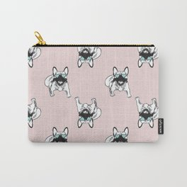 Blush pink Frenchies Carry-All Pouch