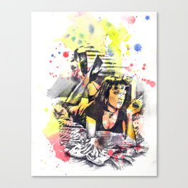 Uma Thurman From Pulp Fiction Canvas Print