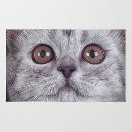 Drawing funny kitten Rug