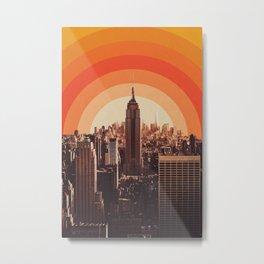 Sunset in New York City Metal Print