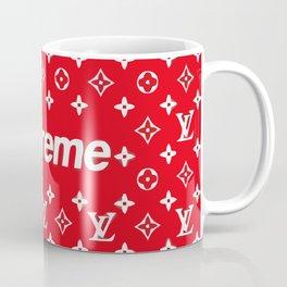 supreme x LV red Coffee Mug