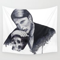 hannibal Wall Tapestries featuring Hannibal by JessicaBader