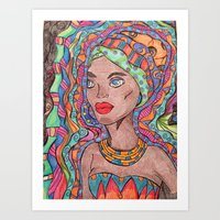 african Art Prints featuring African by havana