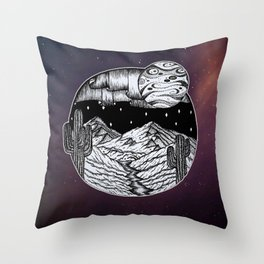 Southwest Space in Autumn Colors Throw Pillow