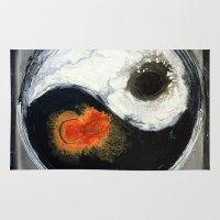 yin yang Area & Throw Rugs featuring Yin Yang by Liz Moran