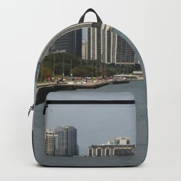 Chicago Shoreline, Skyline, Lake Michigan Backpack