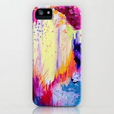 IN TIMES OF CHAOS - Intense Nature Abstract Acrylic Painting Wild Rainbow Volcano Waves Fine Art  Slim Case iPhone (5, 5s)