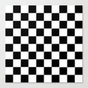 Checker Cross Squares Black & White by beautifulhomes