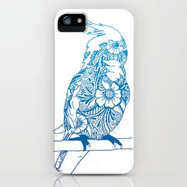 Henna Cockatiel - White background iPhone Case