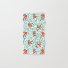 Goldfish, Mask and Magnolia Pattern Hand & Bath Towel