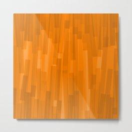 Geometric Brown Painting Metal Print