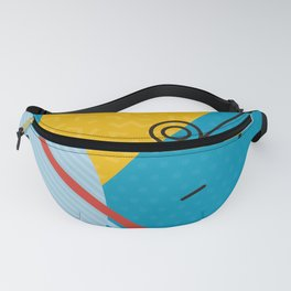 Blue Memphis Throwback Retro 1980s 80s Trendy Hipster Pattern Eighties Fanny Pack