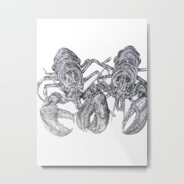 Lobster Love Metal Print