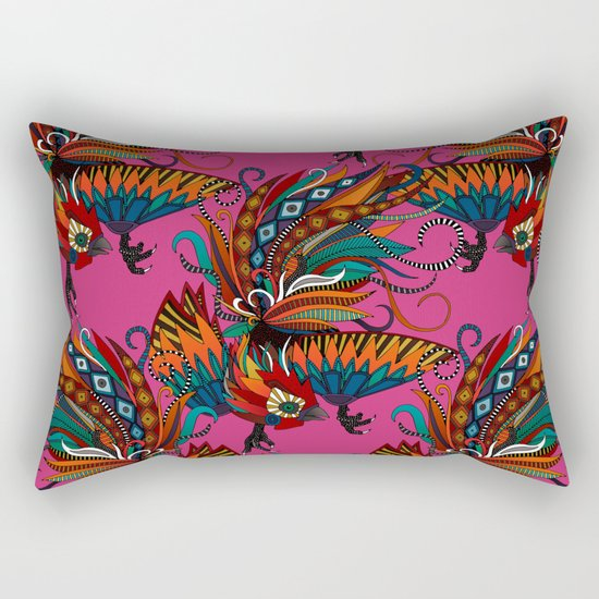 rooster ink pink Rectangular Pillow