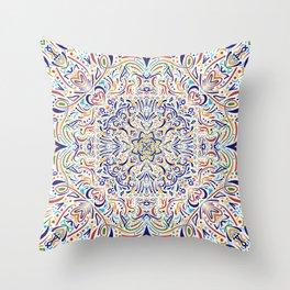 Coloful Doodle Throw Pillow