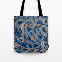 the strokes Tote Bags featuring Strokes by Roberlan Borges
