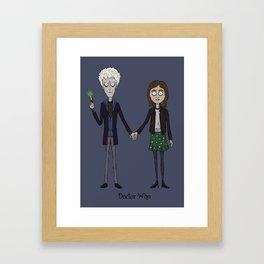 Twelfth & Clara (Burton style) Framed Art Print
