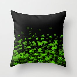 Invaded II Throw Pillow