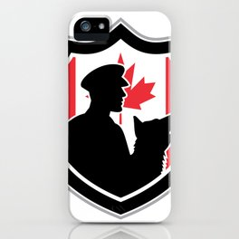 Canadian Police Canine Team Crest iPhone Case