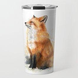 Fox Watercolor Red Fox Painting Travel Mug