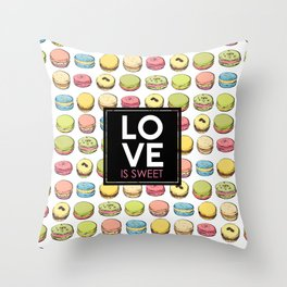 Love is sweet. Throw Pillow