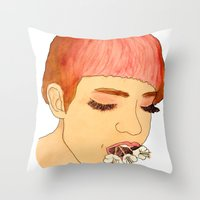 grimes Throw Pillows featuring Grimes by caxcma