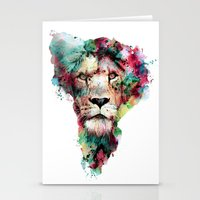 king Stationery Cards featuring THE KING by RIZA PEKER