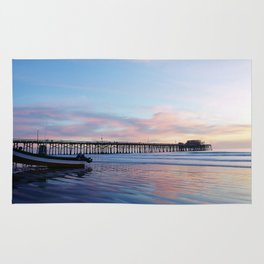 Dory Sunset Newport Beach Pier Rug