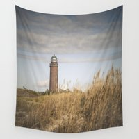 lighthouse Wall Tapestries featuring Lighthouse  by Maria Heyens