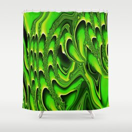 TIDAL WAVE | chartreuse Shower Curtain