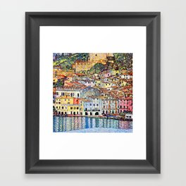 Gustav Klimt Malcesine on Lake Garda Framed Art Print