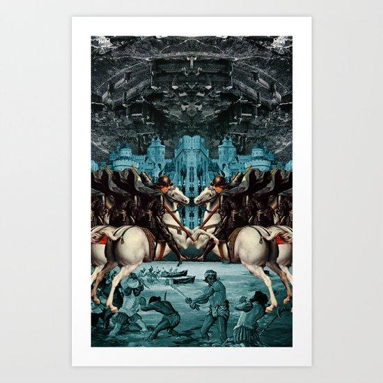 SERFS UP Art Print