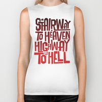 acdc Biker Tanks featuring HEAVEN AND HELL by All Kings