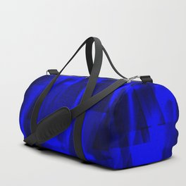 Bright dark blue highlights on marine triangles and metal stripes. Duffle Bag