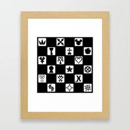 Kingdom Hearts Grid Framed Art Print