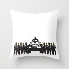 Banksy Have a nice day Throw Pillow