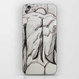 Male Back Sketch iPhone Skin
