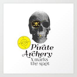 Pirate Archery - X Marks the Spot Art Print