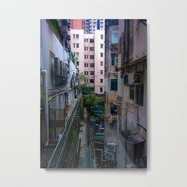 Hong Kong Alley Metal Print
