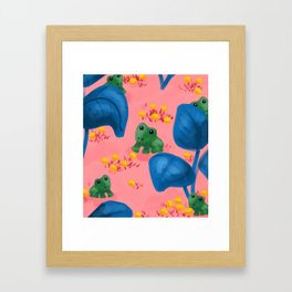 Jungle Frogs Framed Art Print