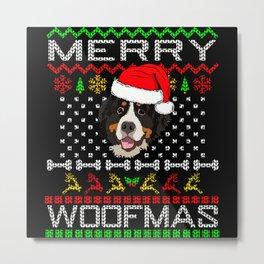 Bernese Mountain Dog Christmas Gift Idea Metal Print